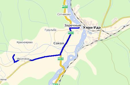 схема проезда до Иволгинского